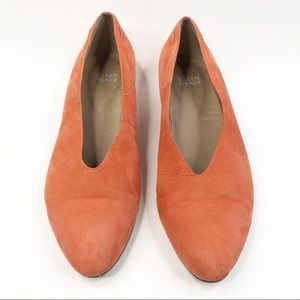 Eileen Fisher Orange Suede Canoe Flats
